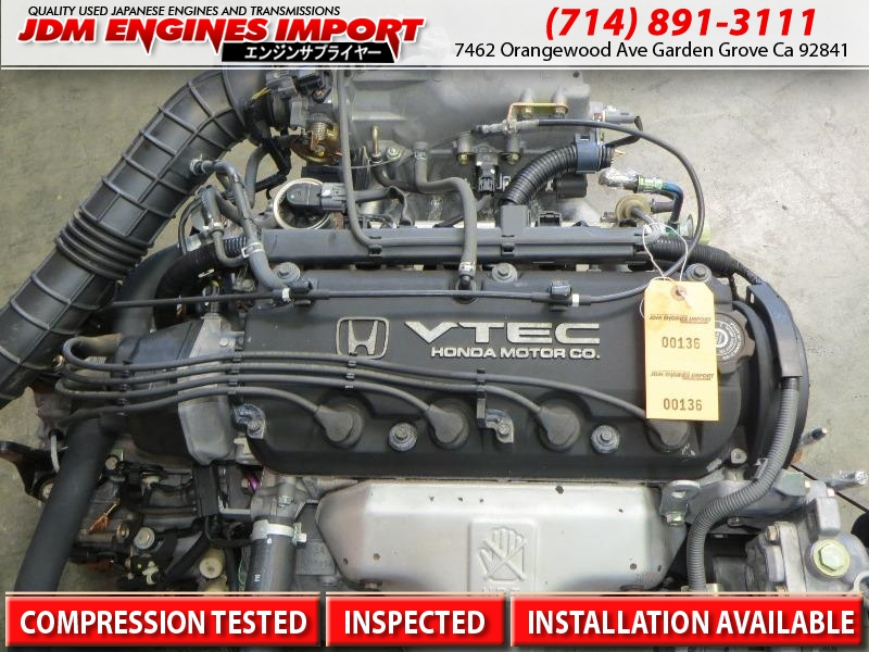 Honda Accord Engine 2 3l 4 Cylinder Jdm F23a Motor 98 02