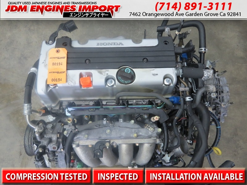 acura tsx engine k24a jdm long block replacement for k24a2
