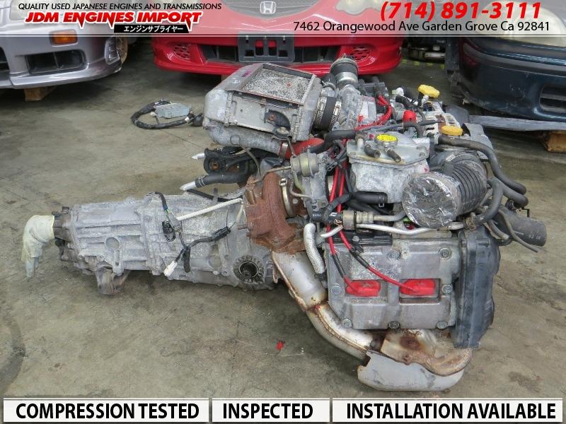 JDM EJ20 STI ENGINE V5 V6 5SPD TRANS HARNESS ECU REAR DIFF