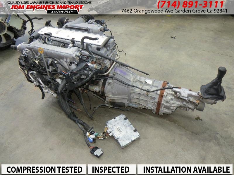 JDM Toyota 1JZ GTE VVTI 2.5L Front Sump Engine R154 Transmission Harness ECU MAF Igniter